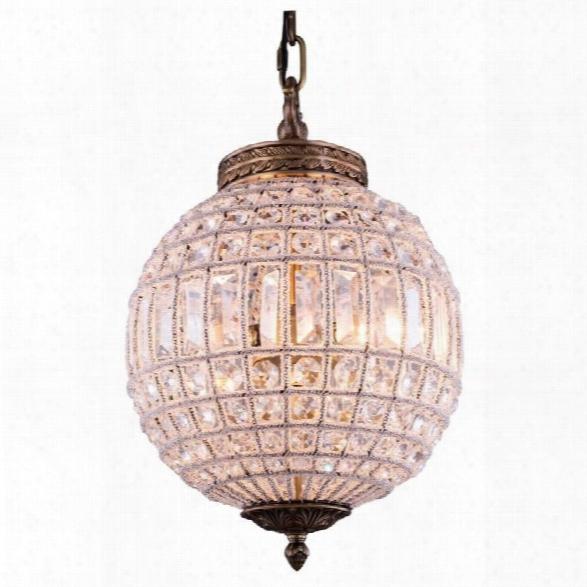 Elegant Lighting Olivia 12 Royal Crystal Pendant Lamp In Gold