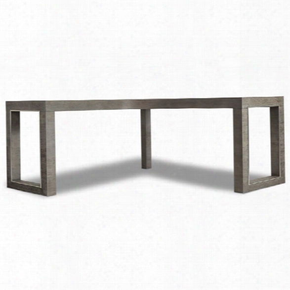 Hooker Furniture House Blend L Shaped Writing Desk In Gorgeous Gray
