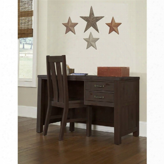 Ne Kids Highlands 2 Drawer Writing Desk With Chair In Espresso