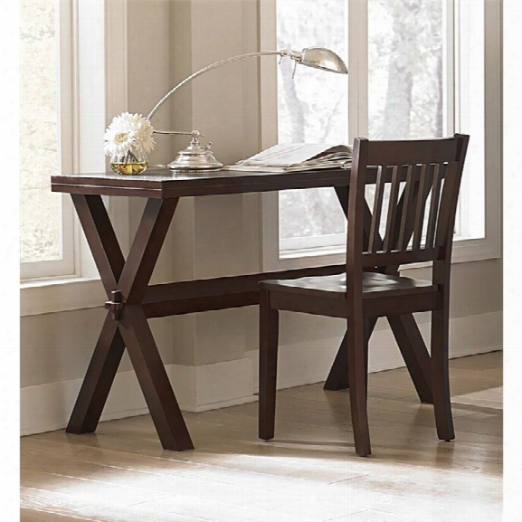 Ne Kids Pulse Trestle Base Writing Desk With Chair In Chocolate