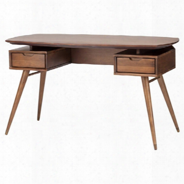 Nuevo Carel Writing Desk In Walnut Brown