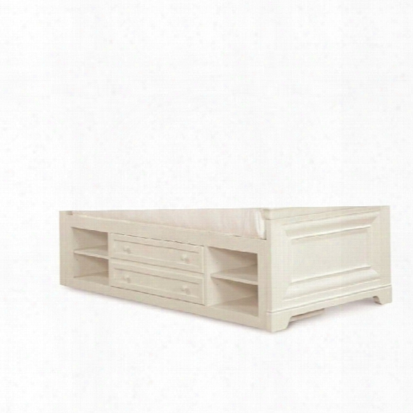 Smartstuff Classics 4.0 Storage Trundle With Shelf In Summer White