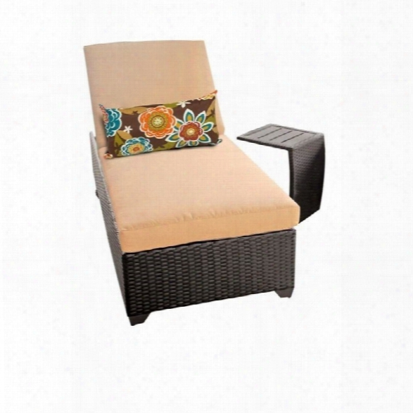 Tkc Classic Wicker Patio Lounges With Side Table In Sesame