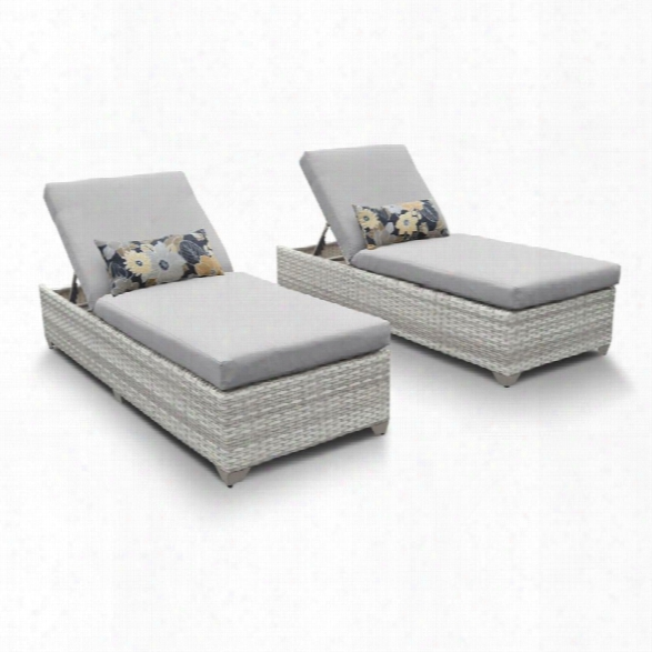 Tkc Fairmont Patio Chaise Lounge In Gray (set Of 2)