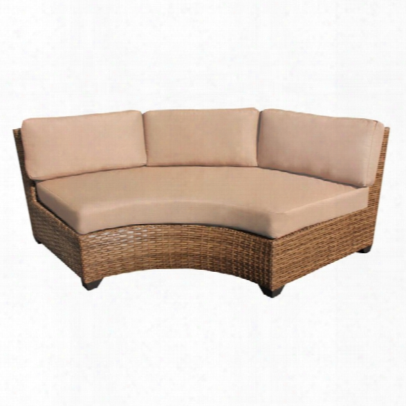 Tkc Lagun Curved Armless Patio Sofa (set Of 2)