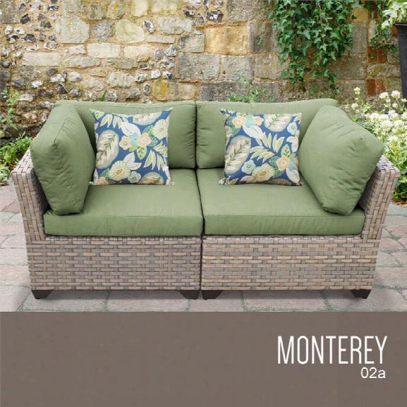 Tkc Monterey Patio Wicker Loveseat In Green