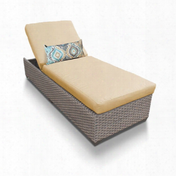 Tkc Oasis Patio Chaise Lounge In Sesame