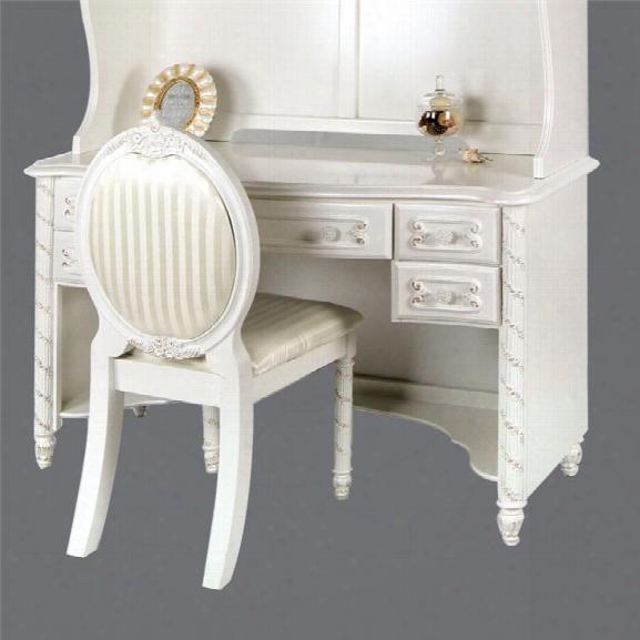 Furniiture Of America Rollison Desk In Pearl White