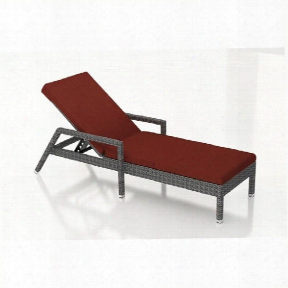 Harmonia Living District Patio Chaise Lounge In Canvas Henna