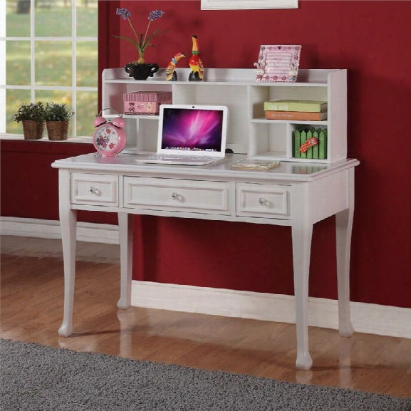 Picket House Furnishings Jenna Writing Desk With Hutch In White