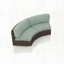Harmonia Living Arden Curved Patio Loveseat in Canvas Spa