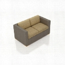 Harmonia Living Element Patio Loveseat in Heather Beige