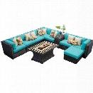 TKC Venice 10 Piece Outdoor Wicker Sofa Set in Aruba