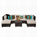 TKC Venice 7 Piece Outdoor Wicker Sofa Set in Beige