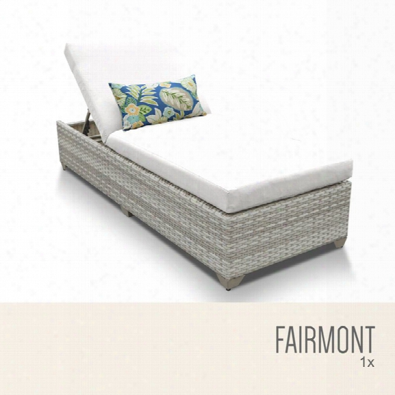 Tkc Fairmont Patio Chaise Lounge In White