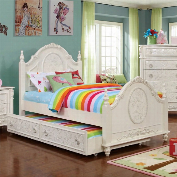 Furniture Of America Aneissa Twin Kids Bed With Trundle In White