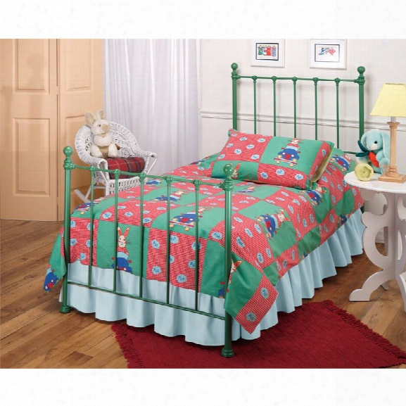 Hillsdale Molly Twin Poster Bed With Trundle In Green