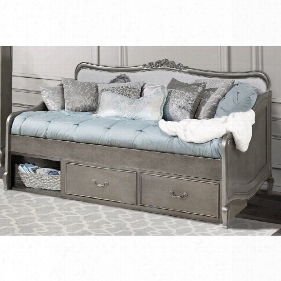 Ne Kids Kensington Elizabeth Storage Daybed In Antique Silver