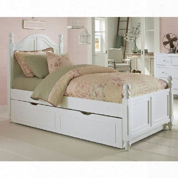 Ne Kids Lake House Payton Twin Arch Bed With Trundle In Whit