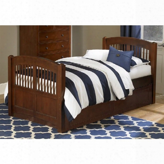Ne Kids Walnut Street Hayden Twin Bed With Trundle In Chestnut