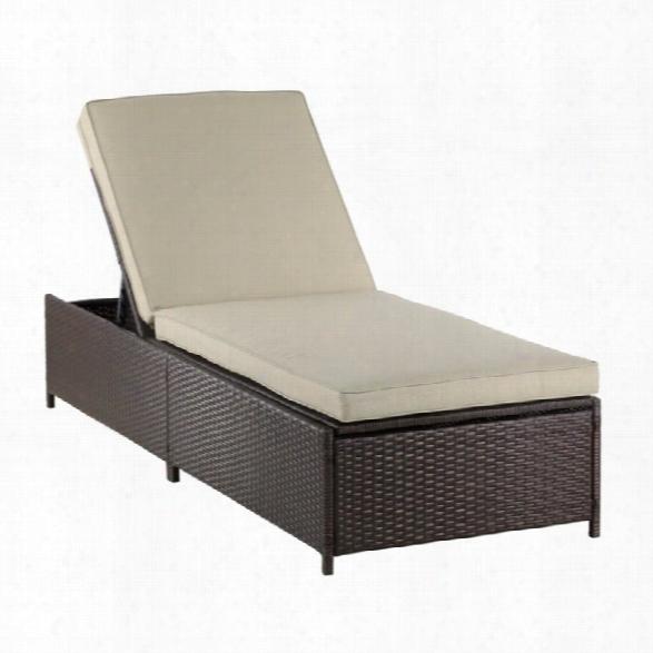 Serta Laguna Wicker Patio Storage Chaise Lounge In Brown
