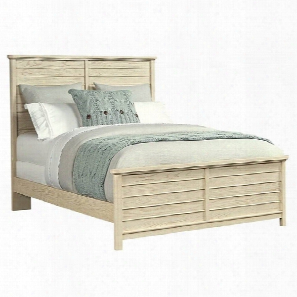 Stone & Leigh Driftwood Park Queen Panel Bed In Vanilla Oak