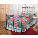 Hillsdale Molly Twin Poster Bed with Trundle in Blue
