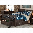 NE Kids Highlands Harper Full Slat Storage Bed in Espresso
