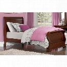 NE Kids Walnut Street Riley Twin Sleigh Bed in Chestnut