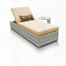 TKC Fairmont Patio Chaise Lounge With Side Table in Sesame