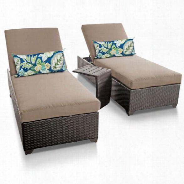 Tkc Classic 3 Piece Patio Chaise Lounge Set