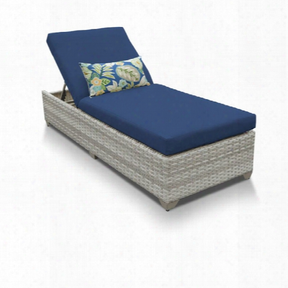 Tkc Fairmont Patio Chaise Lounge In Navy