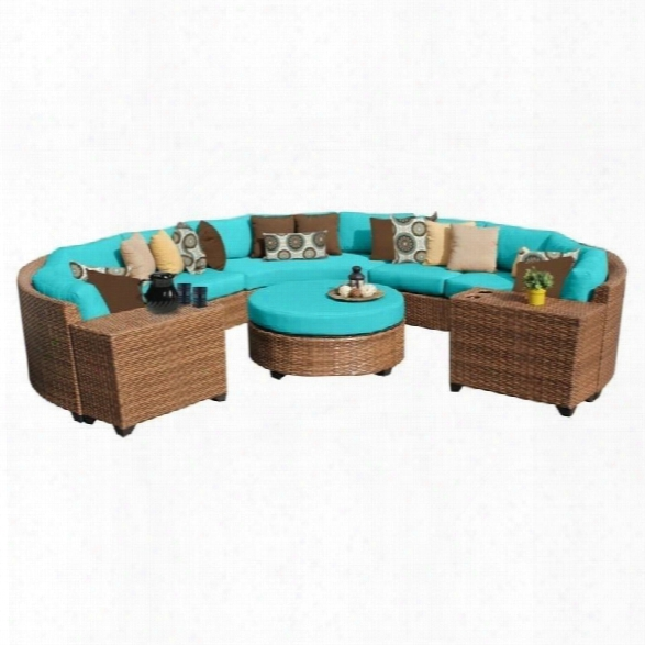 Tkc Laguna 8 Piece Outdoor Wicker Sofa Set In Aruba