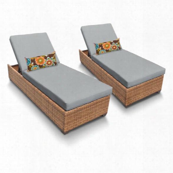Tkc Laguna Patio Chaise Lounge In Gray (set Of 2)