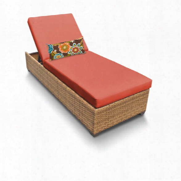 Tkc Laguna Patio Chaise Lounge In Orange