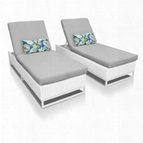 Tkc Miami Patio Chaise Lounge In Gray (set Of 2)