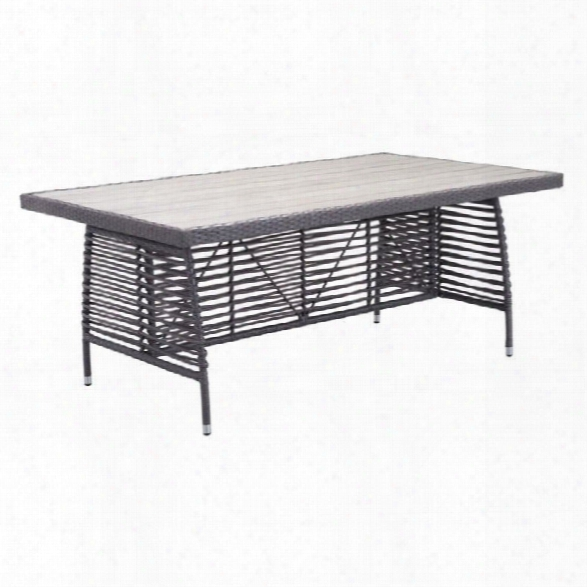 Zuo Sandbanks Patio Dining Table In Gray
