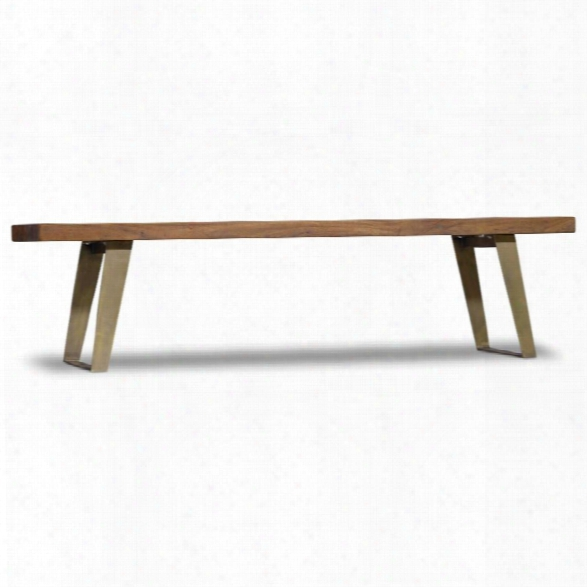 Hooker Furniture Transcend Dining Bench In Medium Wood