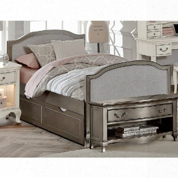 Ne Kids Kensington Victoria Twin Upholstered Bed With Trundle