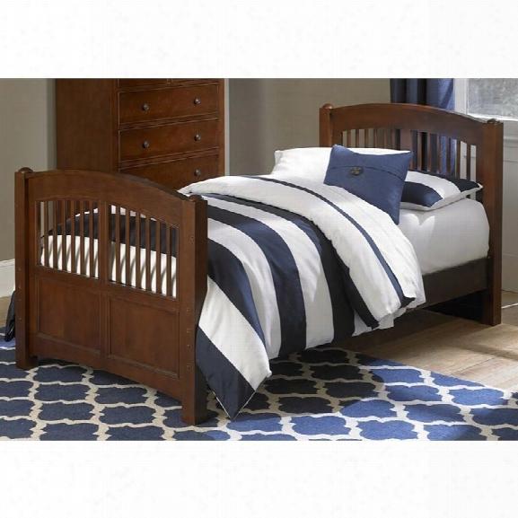 Ne Kids Walnut Street Hayden Twin Bed In Chestnut