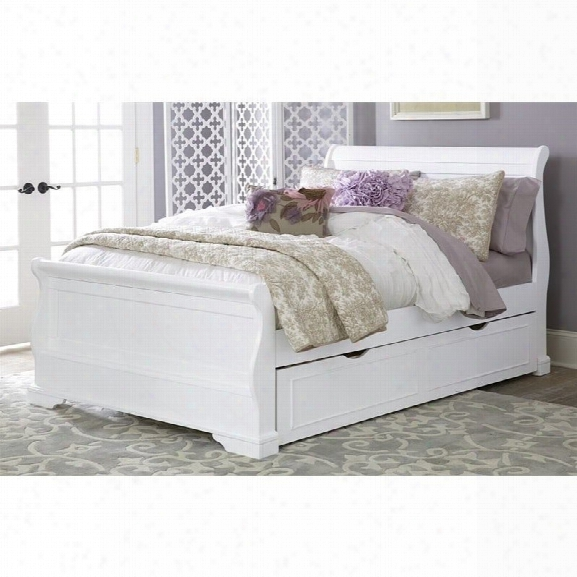 Ne Kids Walnut Street Riley Full Sleigh Bed With Trundle In White