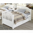 NE Kids Lake House Adrian Twin Slat Bed with Trundle in White