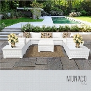 TKC Monaco 12 Piece Patio Wicker Sectional Set in White