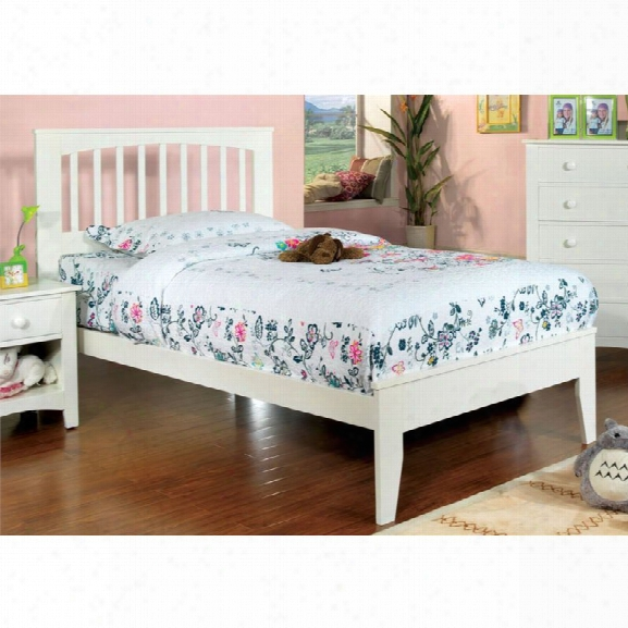 Furniture Of America Myriam Full Platform Slat Bed In White