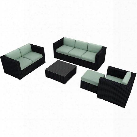 Harmonia Living Urbana 5 Piece Patio Sofa Set In Canvas Spa