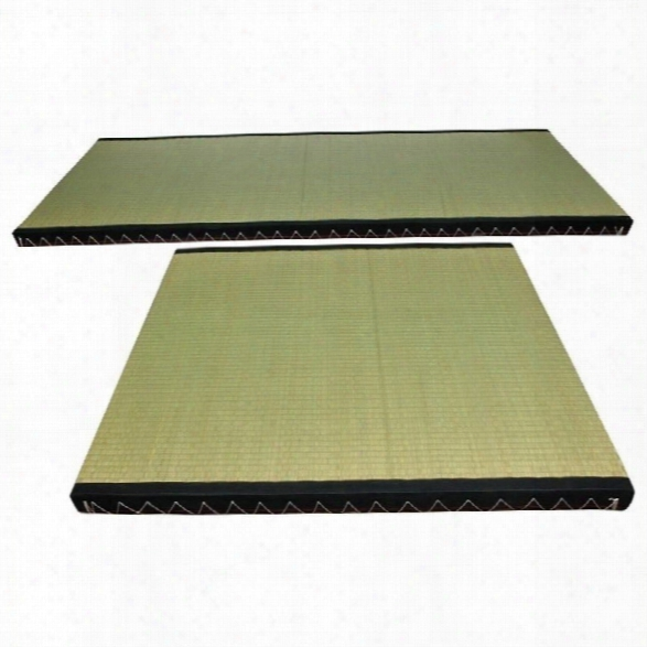 Oriental Furniture Tatami Mat Kit In Beige And Tan