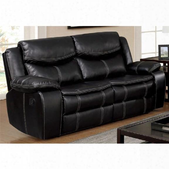 Furniture Of America Monica Reclining Loveseat In Black
