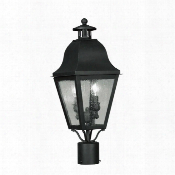 Livex Amwell Outdoor Post Head In Black