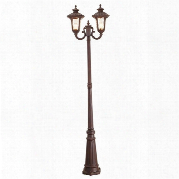 Livex Oxford Outdoor 2 Head Post In Imperial Bronze
