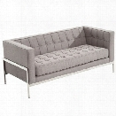 Armen Living Andre Loveseat in Gray
